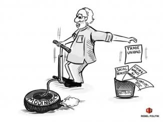 Modinomics - cartoon by RebelPolitik